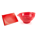 Preserve Red Tomato Eco Friendly Large Cutting Board and Colander