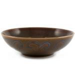 Ambiance Sunburst Brown Glazed Ceramic Bowl