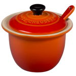 Le Creuset Flame Stoneware 4 Ounce Condiment Pot