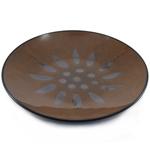 Ambiance Sunburst Brown Glazed Ceramic Salad Plate