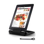 Prepara iPrep Black Adjustable Tablet Stand with Stylus