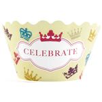 Bella Cupcake Couture Victoria Celebrate and Crowns Cupcake Wrapper, Set of 12