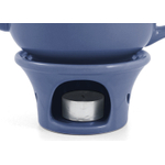 Metropolitan Tea Denim Blue Ceramic Teapot Warmer