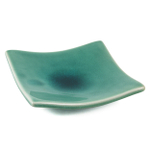 Green Crackled Glass Asian Serving Plate, Set of 2