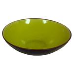 Green Porcelain Crackled Glass Large Asian Bowl
