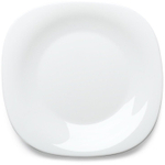Bormioli Rocco White Opal Glass Parma Dessert Plate, Set of 6