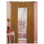 Santa Fe Gold Tab Top Curtains Panel and Valance Set