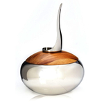 Nambe Scoop Stainless Steel and Wood Ice Bucket