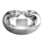 Nambe Infinity Alloy Double Dip and Chip Server