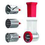Bodum Bistro Red Slicer and Shredder Accessory for Stand Mixer