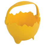 Trudeau Yellow Silicone Single Egg Poacher with Handle