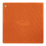 Silikomart Presi Textured Orange Silicone 6.8 x 6.8 Inch Pot Holder