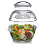 Prodyne Iced Up Salad To Go Acrylic 5.5 Quart Serving Bowl