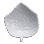 HIC Harold Import Co White Porcelain Leaf Tea Bag Caddy