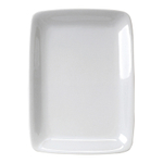 HIC Harold Import Co White Porcelain 8 x 12.25 Inch Rectangular Platter