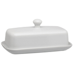 HIC Harold Import Co White Porcelain Butter Dish