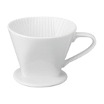 HIC Harold Import Co White Porcelain No. 2 Coffee Filter Cone