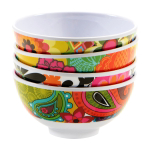 French Bull Floral Pattern Mini 4.5 Inch Bowl, Set of 4