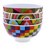 French Bull Geometric Pattern Mini 4.5 Inch Bowl, Set of 4