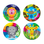 French Bull Jungle 8 Inch Kids Plate, Set of 4