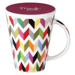 French Bull V Ziggy Porcelain 16 Ounce Tea and Coffee Mug with Lid