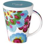French Bull V Gala Porcelain 16 Ounce Tea and Coffee Mug with Lid