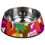 French Bull Glamo and Stainless Steel 23.6 Ounce Pet Bowl