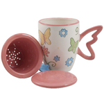 Butterfly Brew-In Tea Infuser Travel Mug with Lid