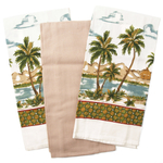 Cuisinart Palm Paradise Flour Sack Towels, 3 Piece Set