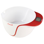 Escali Taso Apple Red 2 Quart Mixing Bowl Digital Scale