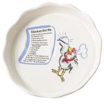 Ceramic Chicken Pot Pie Plate, 9 Inch