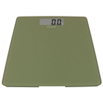 Escali Sage Green Glass Platform Digital Bathroom Scale
