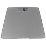 Escali Silver Glass Platform Digital Bathroom Scale