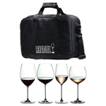 Riedel Veritas 4 Piece Wine Tasting Set with Travel Bag