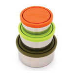 U Konserve 3 Piece Round Nesting Food Container Set with Moss Trio Lids