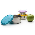 U Konserve 3 Piece Round Nesting Food Container Set with Sky Trio Lids