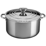 Le Creuset Tri-Ply Stainless Steel 6.3 Quart Stockpot with Lid