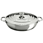 Le Creuset Tri-Ply Stainless Steel 5 Quart Braiser with Lid