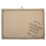 Le Creuset Heritage Truffle Linen 27.5 x 20 Inch Tea Towel