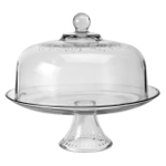 Anchor Hocking Aubriana Glass 2 Piece Cake Stand with Decorative Dome