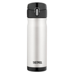 Thermos Stainless Steel and Black Vacuum Insulated 16 Ounce Hydration Bottle