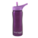 Eco Vessel Summit Purple Glow Stainless Steel Triple Insulated 17 Ounce Water Bottle with Flip Straw Lid