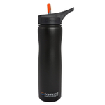 Eco Vessel Aqua Vessel Black Shadow Stainless Steel Insulated 24 Ounce Filtration Water Bottle