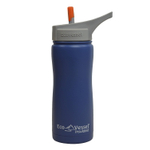 Eco Vessel Summit Hudson Blue Stainless Steel Triple Insulated 17 Ounce Water Bottle with Flip Straw Lid