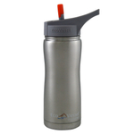Eco Vessel Summit Silver Express Stainless Steel Triple Insulated 17 Ounce Water Bottle with Flip Straw Lid