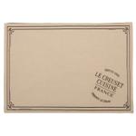 Le Creuset Heritage Truffle Linen Place Mat, Set of 2