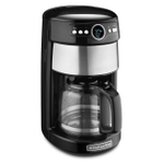 KitchenAid KCM1402OB Onyx Black Glass Carafe 14 Cup Coffee Maker
