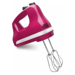 KitchenAid KHM512CB Ultra Power Cranberry Red 5 Speed Hand Mixer