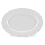The French Chefs Maria 14 Inch Porcelain White Platter