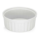 The French Chefs Porcelain White 9 Inch Souffle Dish